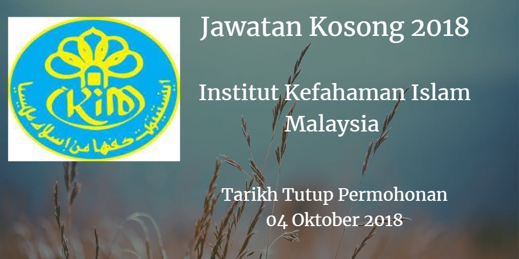 Jawatan Kosong IKIM 04 Oktober 2018