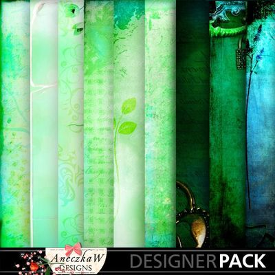 Digital Scrapbooking Green Papers