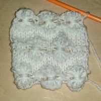knit flower stitch, ニットフラワーの編み方, 棒針編織小花樣