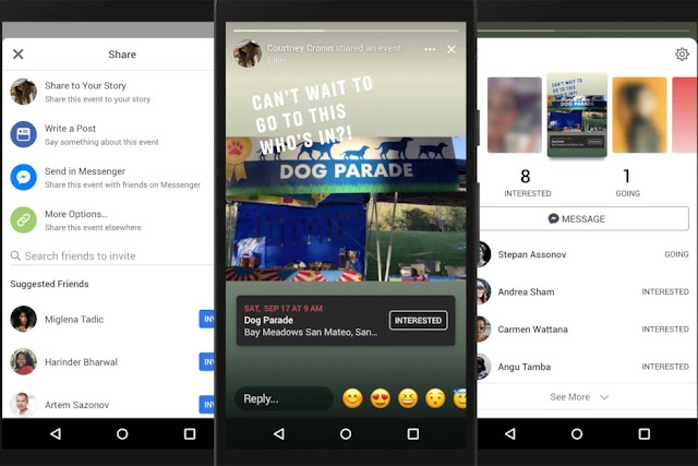 You can now share events in stories on Facebook, Facebook updates