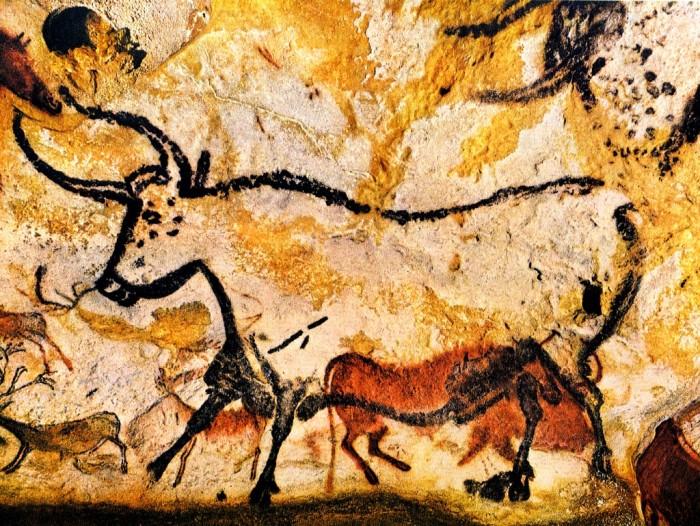Pintura rupestre de um auroque