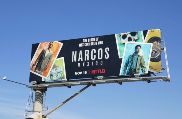 Narcos Mexico series premiere billboard