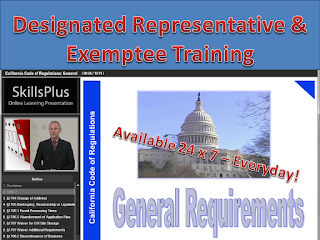 The largest selection of Board-approved California Designated Representative training