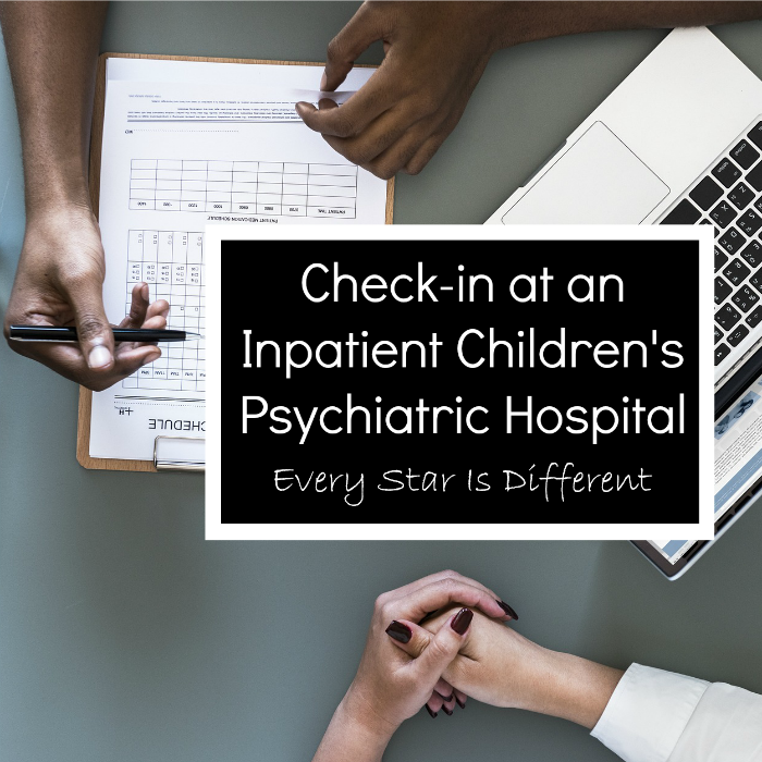 Check-in-at an inpatient children's psychiatric hospital