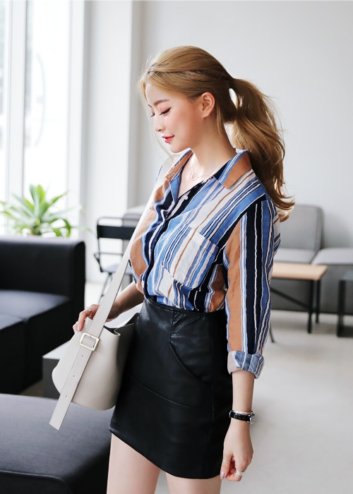 Striped Contrast Shirts