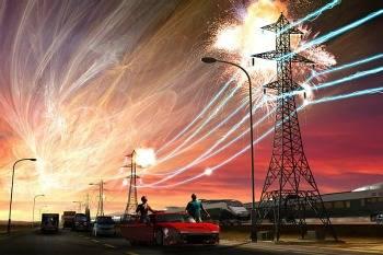 Tormenta Solar red eléctrica