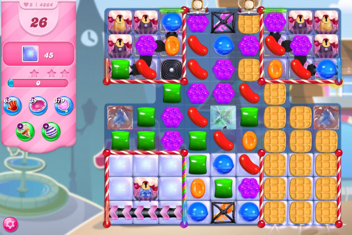 Candy Crush Saga level 4864