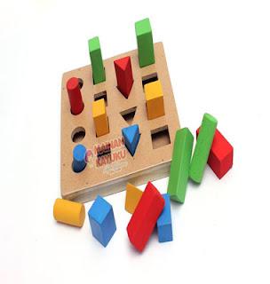 Mainan Edukasi Pasak Geo Bertingkat