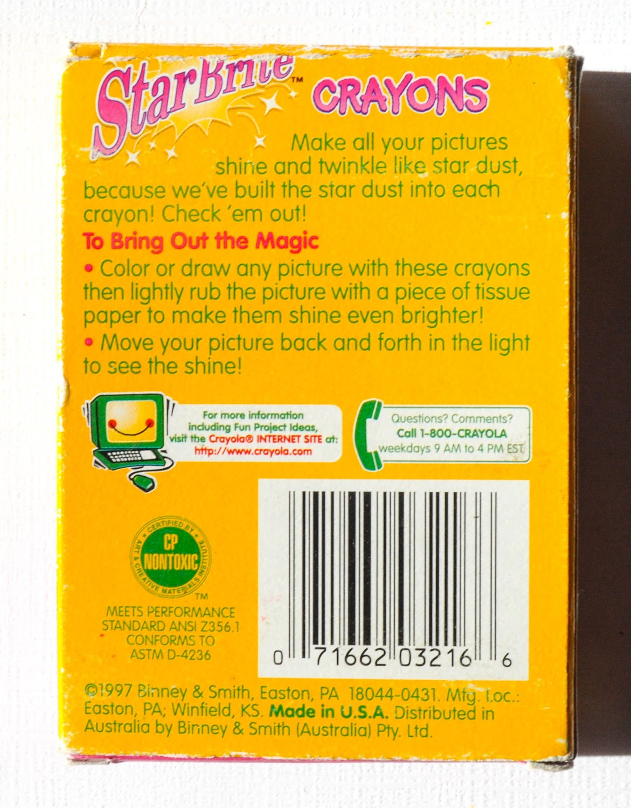 16 count crayola starbrite crayons what u0027s inside the box