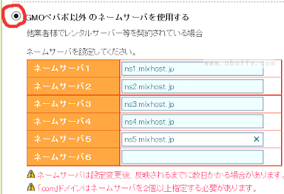 ムームードメイン設定4
