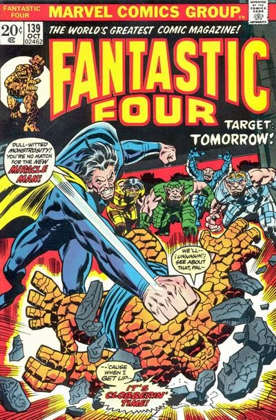 Fantastic Four #139, the Miracle Man returns