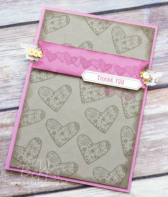 Sealed with Love Thank You Card - A sneak peek of some new Stampin' Up! UK goodies