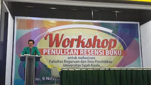 FKIP Unsyiah Gelar Workshop Penulisan Resensi Buku
