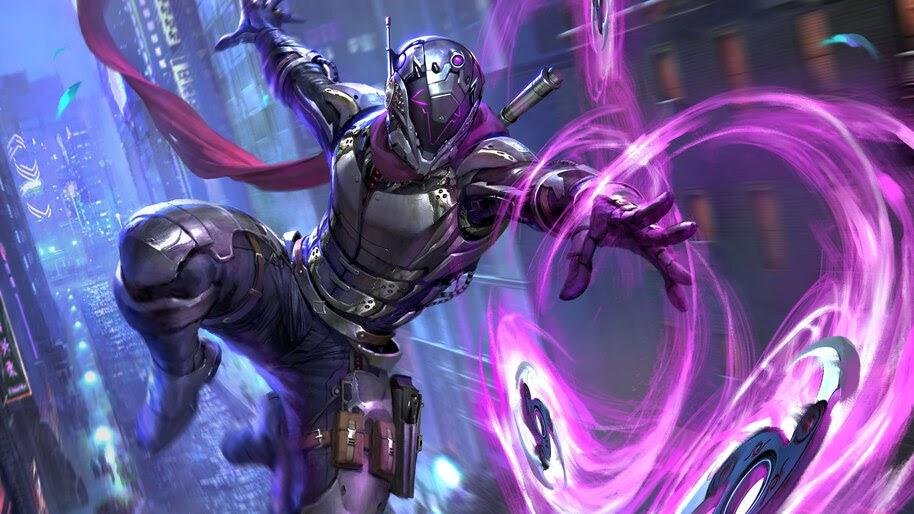 Futuristic, Ninja, Shuriken, Sci-Fi, 4K, #6.759