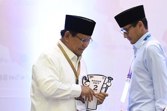 Prabowo Buka Rekening untuk Dana Bantuan Kampanye