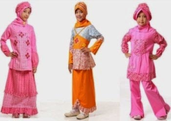 Baju muslim anak perempuan terkini