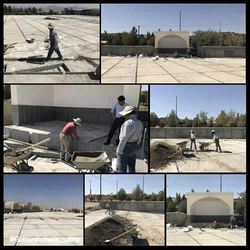 پایان تخریب مزار شهیدان گمنام در وادی رحمت تبریز