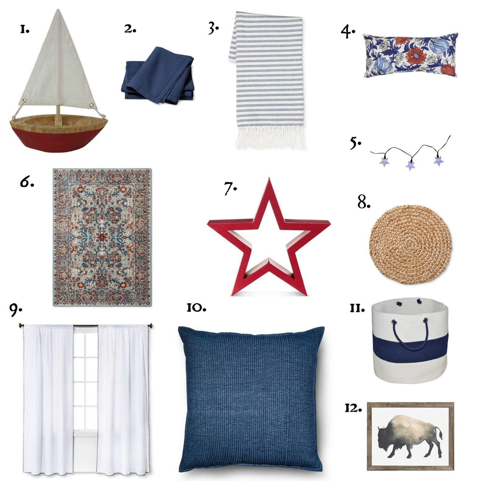 Real inspired rustic independence day decor from target Red home decor target
