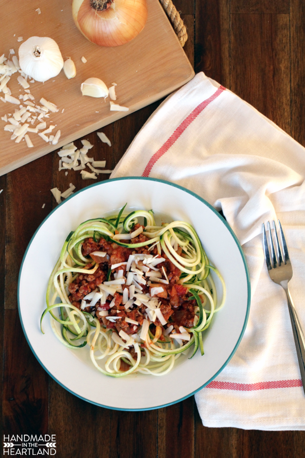 Skinny Spaghetti, Zucchini Noodles & Turkey Bolognese Recipe