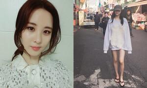 Phim Sao Hàn 15/11: Sulli mặc áo giấu quần khoe chân, Seo Hyun da mịn như sứ-2016