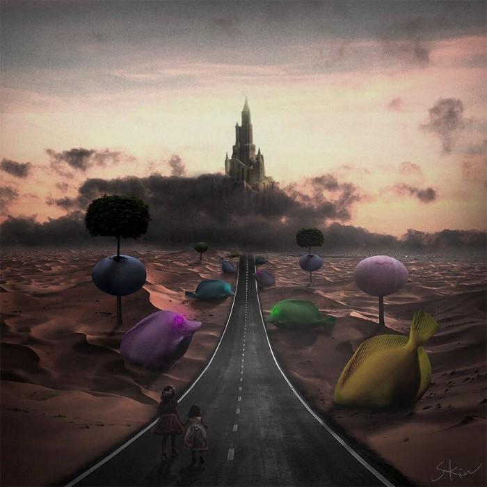Сюрреалистические произведения. Steven Kin