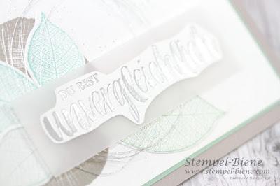 Stampinup; Stampin up; Kraft der Natur, Grußkarte mit Blätter; schlichte Karte; Stempel-Biene, Kartenworkshop; Basteln lernen Recklinghausen, Hochzeitskarten basteln