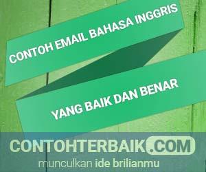 Contoh Email dalam Bahasa Inggris
