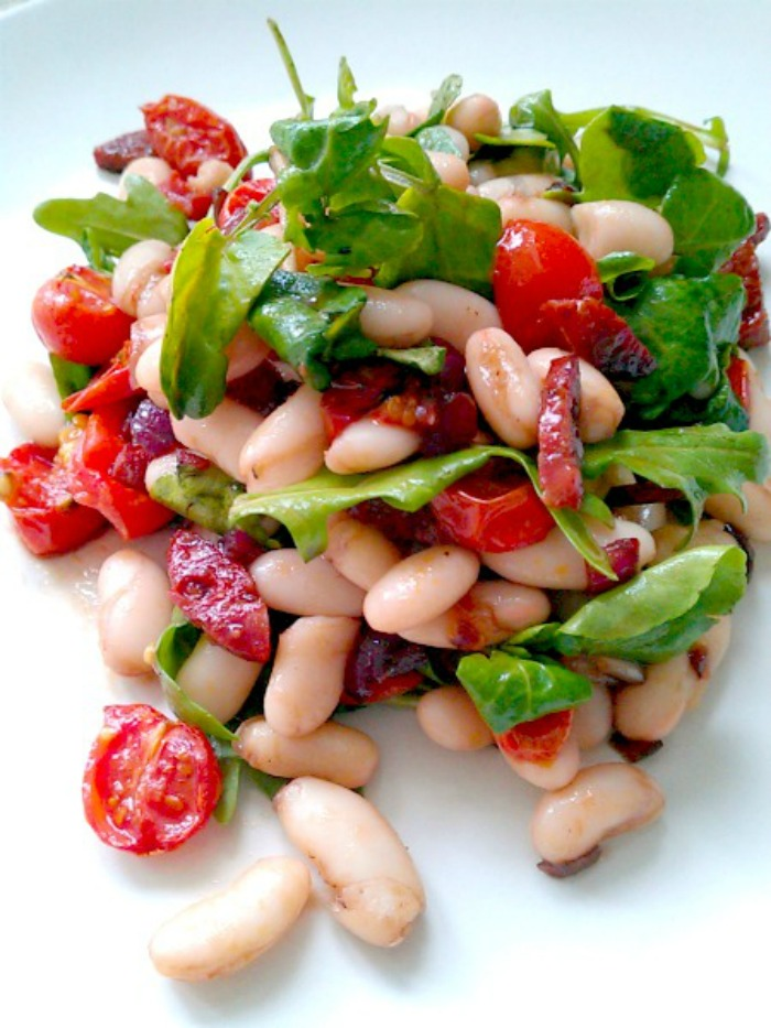 Roast Tomato, Cannellini Bean and Chorizo Salad