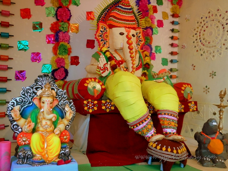Eco friendly Ganpati from paper, Ganesh Chaturthi Mumbai Pandal Hopping