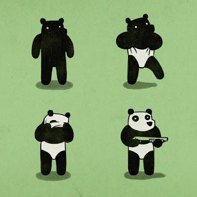 Ilustración de un panda