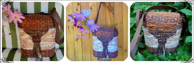 плетение из газет сумочка