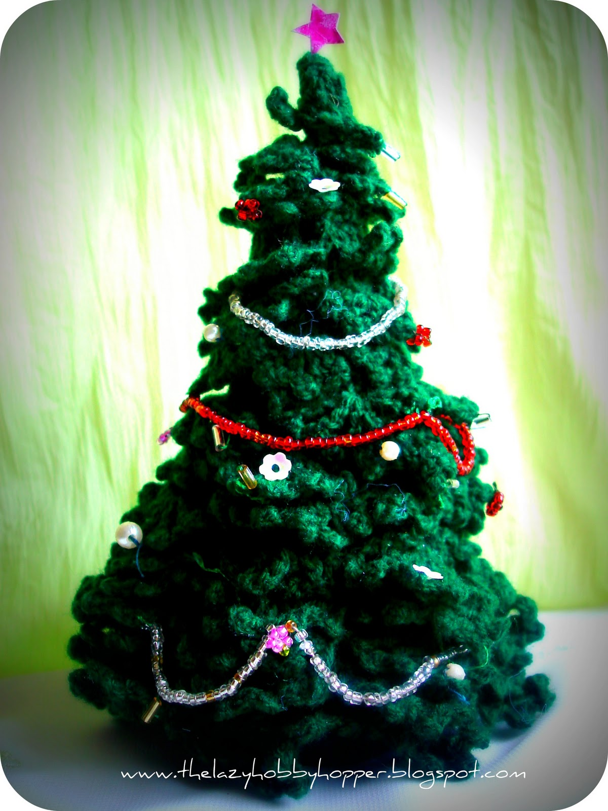 Crocheted christmas tree 70