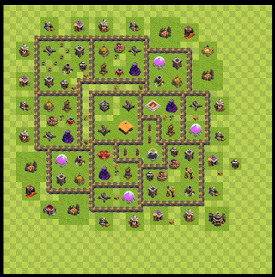 War Base Town Hall Level 9 By Riswan Pane (Panr TH 9 Layout)