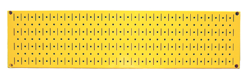 horizontal metal peg board
