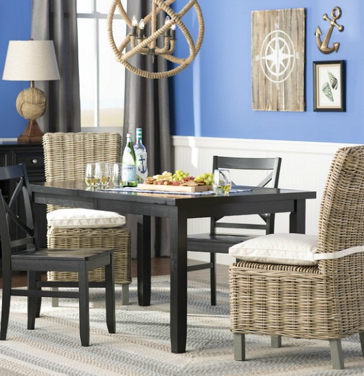Rattan Dining Room Chairs with Cushions