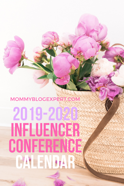 2019 Influencer Blog Events Calendar