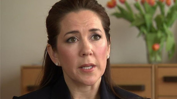 Crown Princess Mary Of Denmark Attended A Interview For Mary Foundation Project. Amaliegade,Copenhagen