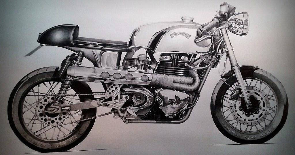 Cafe Racer Draw Rocketgarage Cafe Racer Magazine