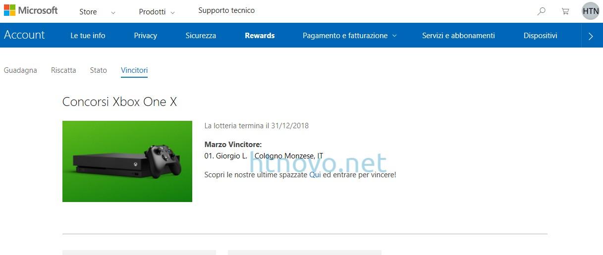 Vincitore-Xbox-One-X