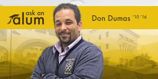 SDSU alumnus Don Dumas