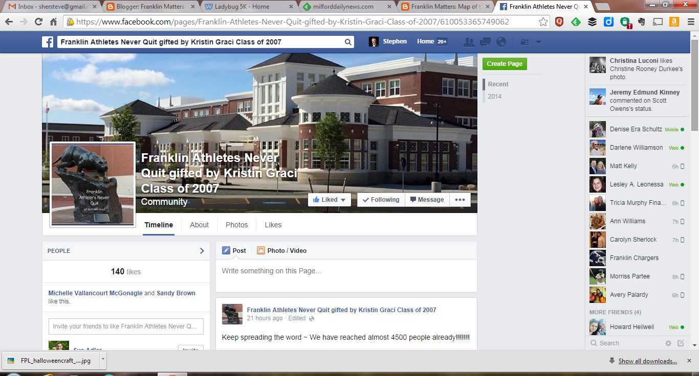 screen capture of the Facebook page for the Graci gift