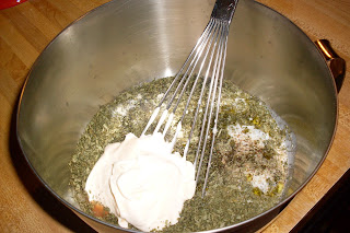 Casey's House Dressing, a delicious blue cheese vinaigrette.