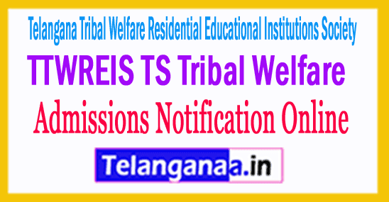 TTWREIS TS Tribal Welfare Entrance Test Online Apply Admission Halltickets Results Download