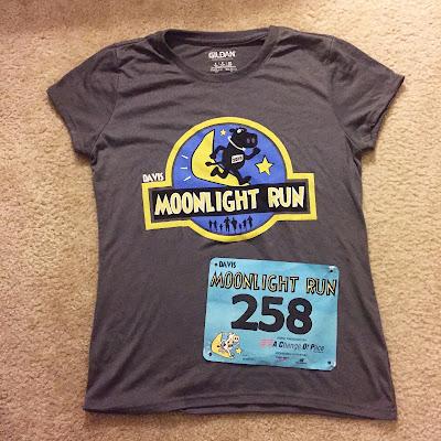 Davis Moonlight Run Half Marathon shirt 2016