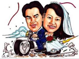 Contoh Gambar Kartun Wedding Naik Motor Prewedding