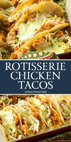 Easy Rotisserie Chicken Tacos