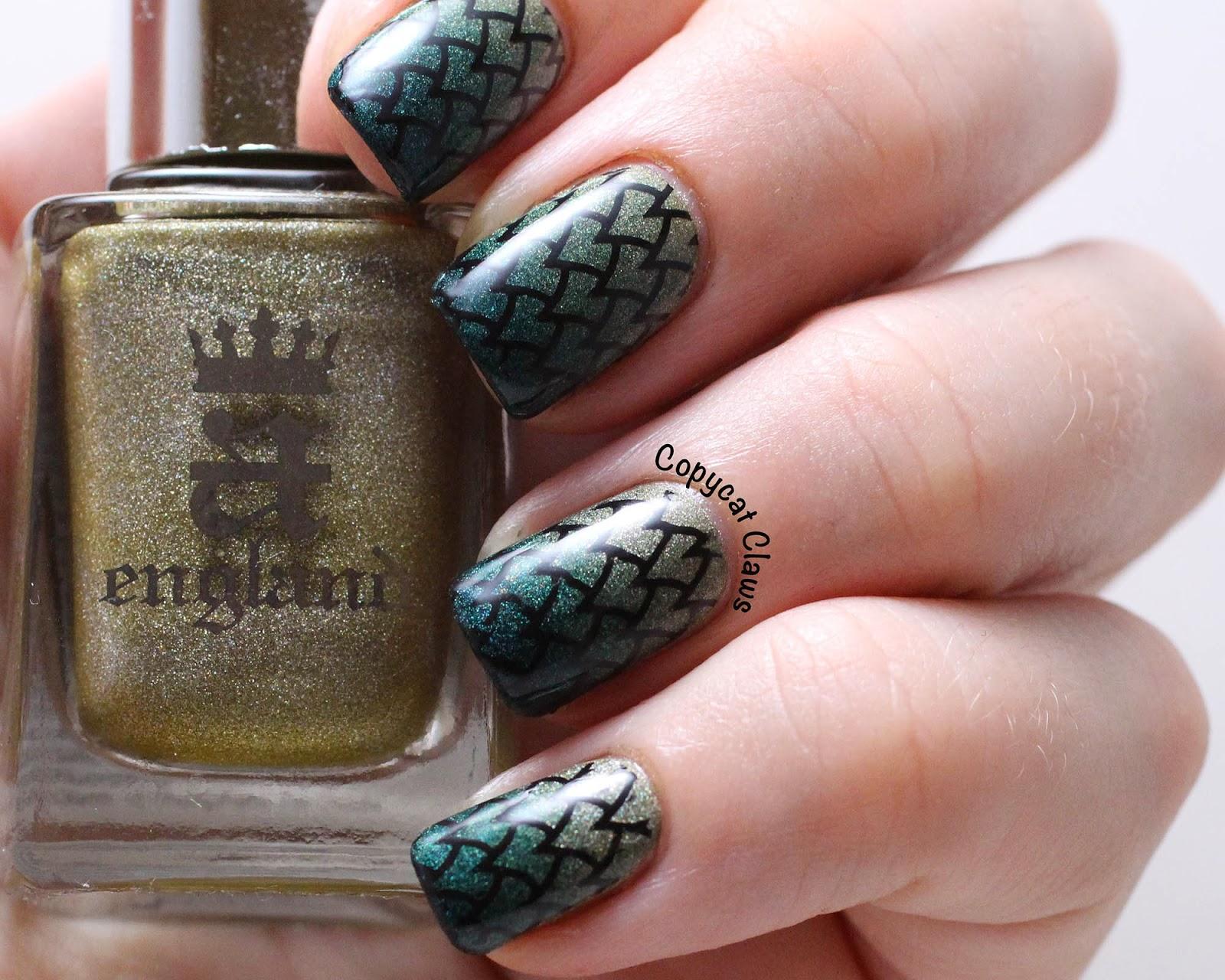 Copycat Claws Dragon Nail Art Part 1