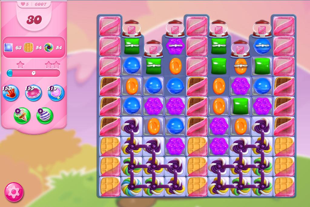 Candy Crush Saga level 6007