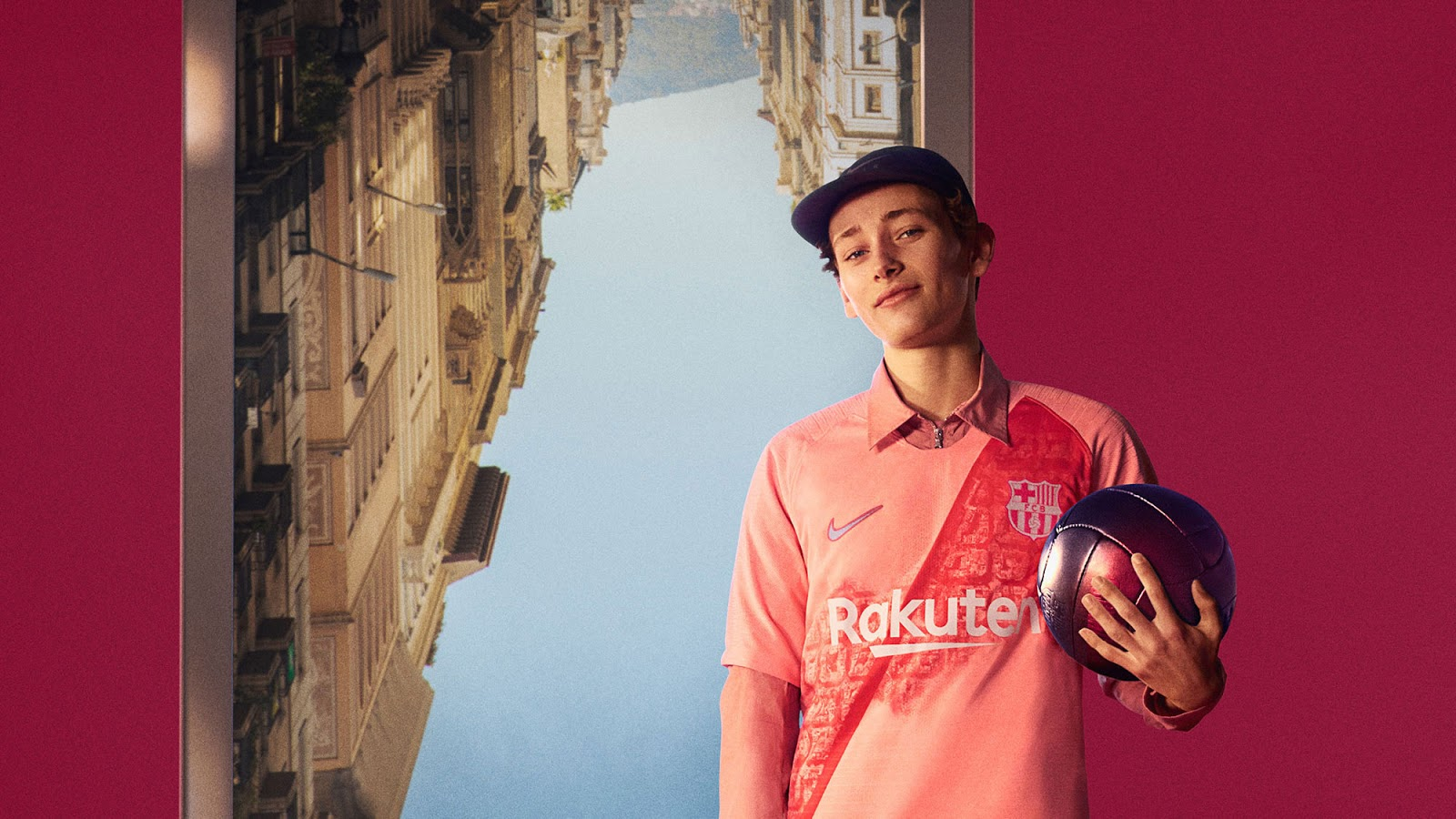 The new Nike FC Barcelona 18-19 third kit celebrates the city of Barcelona  with a pattern based on an aerial view of Barcelona s famous Eixample  District ... 58b9197d8