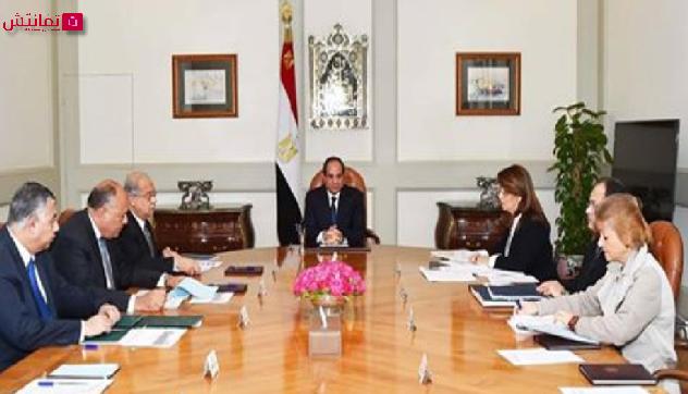 الرئيس السيسي يجتمع برئيس مجلس الوزراء للتباحث لتحسين صورة مصر دولياً